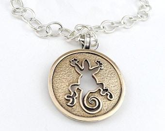 Gecho,nechlace gecho,Chain silver925
