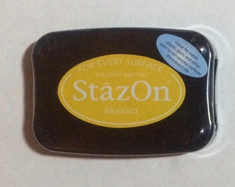 StazOn MUSTARD Yellow Permanent Ink Pad Rubber Stamp Pad