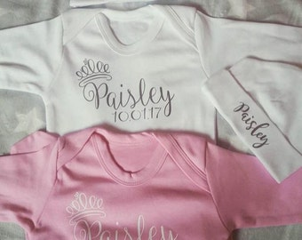Personalised Baby Grows with hat