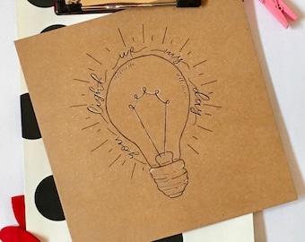 You light up my day Handwritten card