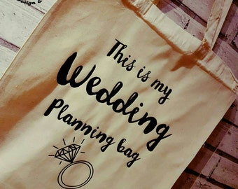 This is my wedding planning tote bag... wedding planning