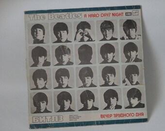 The Beatles, A Hard Day's Night, Vinyl record, Old Soviet vinyl record, Vintage, USSR