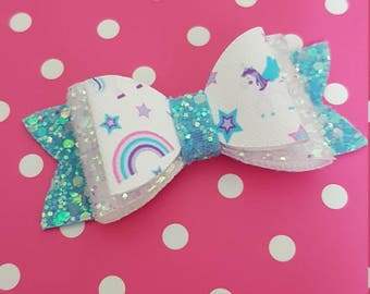"3"" double unicorn bow"