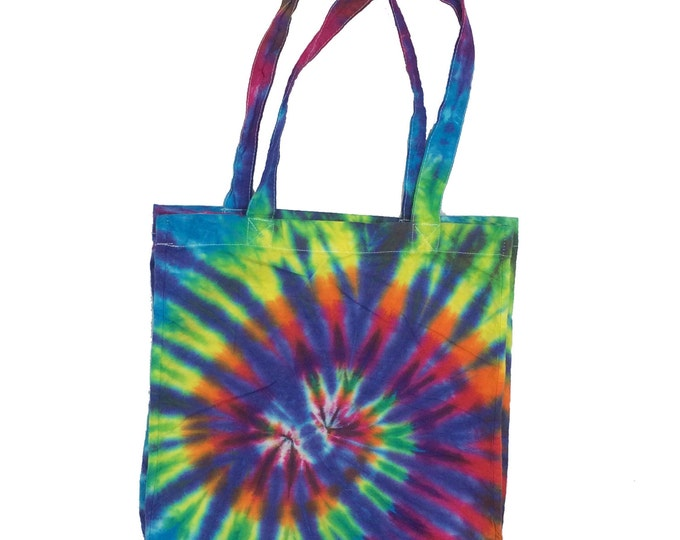 Tie Dye Tote Bag - Spiral Plum