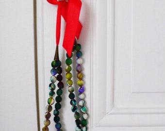 Unique hand-painted silk necklace Collier en soie paint à la main