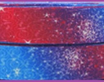 1 x Metre,GALAXY, 7/8, 22mm, Grosgrain, Stars, Ribbon, Sewing, Craft, Hair