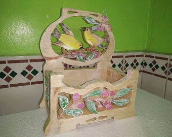 Handmade Scroll sawn basket