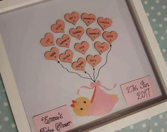 Personalised Baby Shower Girl/Boy Frame