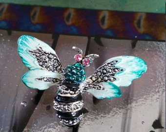 Colorful Bee Butterfly pin