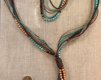 Y necklace multi strands