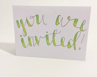 one-of-a-kind you are invited card