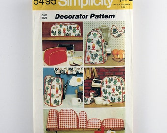 Kitchen Appliance Covers, Appliance Cover, Chicken Potholder, Fried Egg Potholder, Vintage Home Decor, Kitchen Cozies, Simplicity Pattern