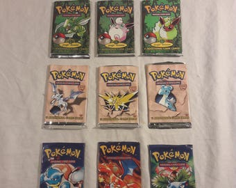 Original Pokemon Trading with 1st Edition Cards (9 piece set)
