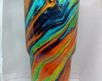Color Swirl Tie Dyed Cup