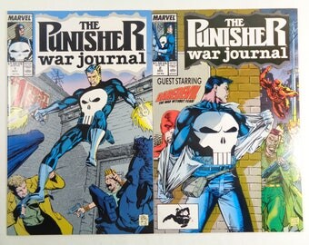 Punisher War Journal #1 #2 NM- Daredevil Marvel Comics 1988