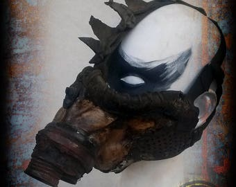 Post apacalyptic half mask - Hedgehog style - wasteland warrior