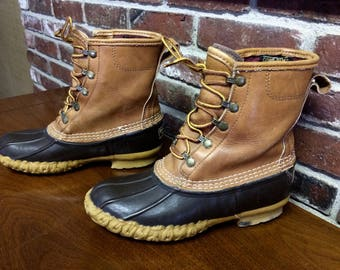 Vintage LL Bean Mud Boots, gum sole, men's size 7