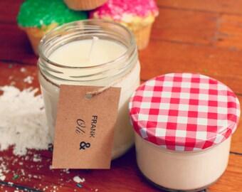 Frank & Oli Soy Candles - BUTTERCREAM CUPCAKE - 450ml Jar (45 Hours Burn Time)