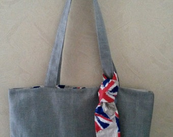 """So british"" tote bag 46 x 32 cm"