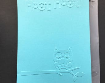 Cuttlebug Hoot Hoot Owl Embossing Folder / Owl Embossing Frame / Card Making / Scrapbooking / Arts and Crafts