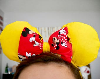 Yellow and Red Minnie Mouse Ears | Mickey Ears |