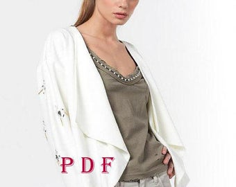 Digital Pattern -PDF Sewing Pattern by Style Adi - Sewing Project/Pants for women -with pockets of fabric  / Women's Pants / Elegant Pants