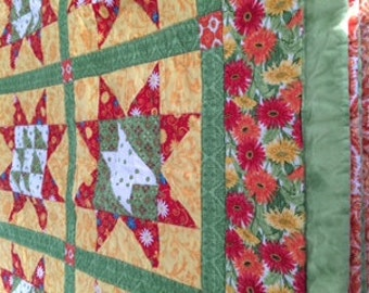 Bright Floral Quilt