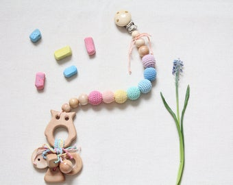 "Gryzunok-rattle belt ""Pastel Rainbow"""