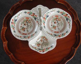 Vintage three sectioned serving dish Lancaster ltd Hanley England