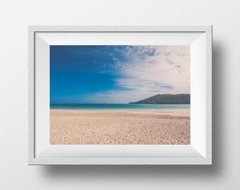 Puerto Rico Beach Photography - Landscape  Photography - Turquoise-Teal Wall Nautical Art  - Beach Photo - Serene - Beach Decor