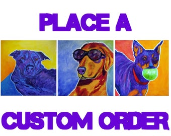 Custom Pet Portrait, Colorful Pet Portrait, Animal Art, Pet Portrait Art, Dog Art, Art By Jodi Dodd