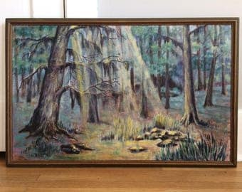 Large Woods Swamp Painting 1962
