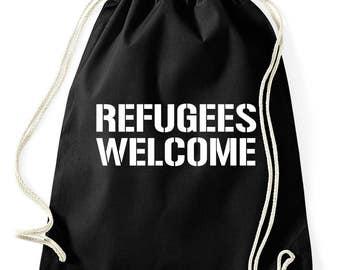 NO2 refugees welcome Pro asylum gymnastics bag