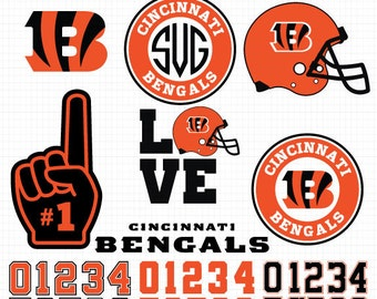 Cincinnati Bengals- Cuttable Design Files(Svg, Eps,Dxf, Jpg) For Silhouette Studio, Cricut Design Space, Cutting Machines,Instant Download