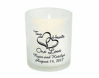 Personalized wedding votive candles