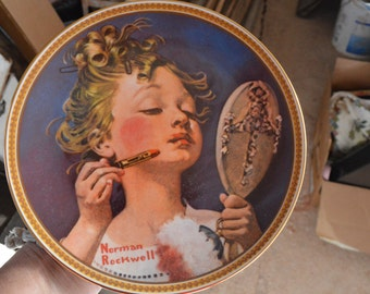 Norman Rockwell Women series plates