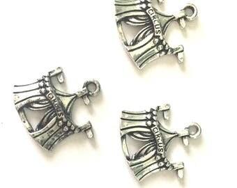 1 pc circus - CIRCO -  Tibetan Silver Charm - Pendants