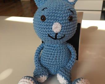 Kikaninchen, Bunny, crochet blue
