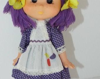 Vintage Mint Eugene Gum Drop Purple Doll. Vintage from the 80's.