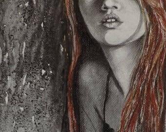 ART PRINT of Original Artwork- ''Her Shadow''