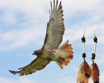 Red-Tailed Hawk Spirit Earrings
