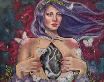 "Oil painting ""Open heart"""