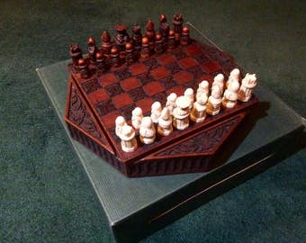 Medieval Themed Chess and Checkers Set, COMPLETE - History Craft, Enesco