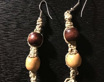 Hemp Beaded Earings