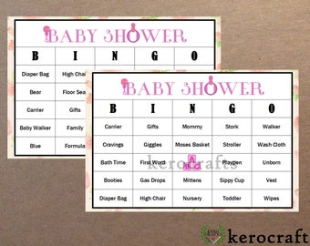 BABY SHOWER BINGO (It's a Girl!) - 40 Cards