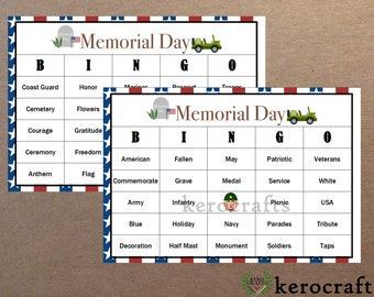 MEMORIAL DAY Bingo - 40 Cards