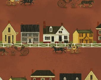 Windham Fabrics Williamsburg Folk Art by Colonial Williamsburg 31691 1-- Remnant 32 inches