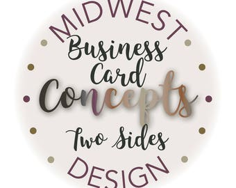 Business Card, Two Sides, Custom, Design, Print Ready, Web