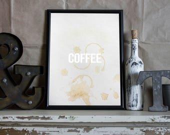 Coffee Art Typography Print