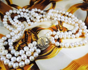 Classy and Fabulous Triple Strand Freshwater Pearl Necklace *SALE, SALE, SALE*